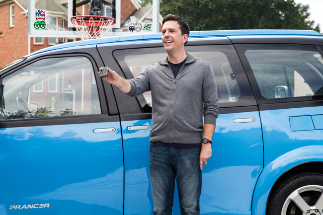 Ed Helms with the Tartan Prancer in Vacation