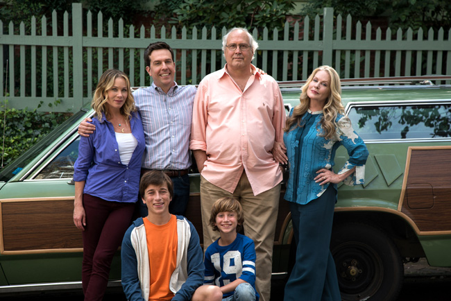 Christina Applegate, Skyler Gisondo, Ed Helms, Steele Stebbins, Chevy Chase and Beverly D'Angelo in Vacation