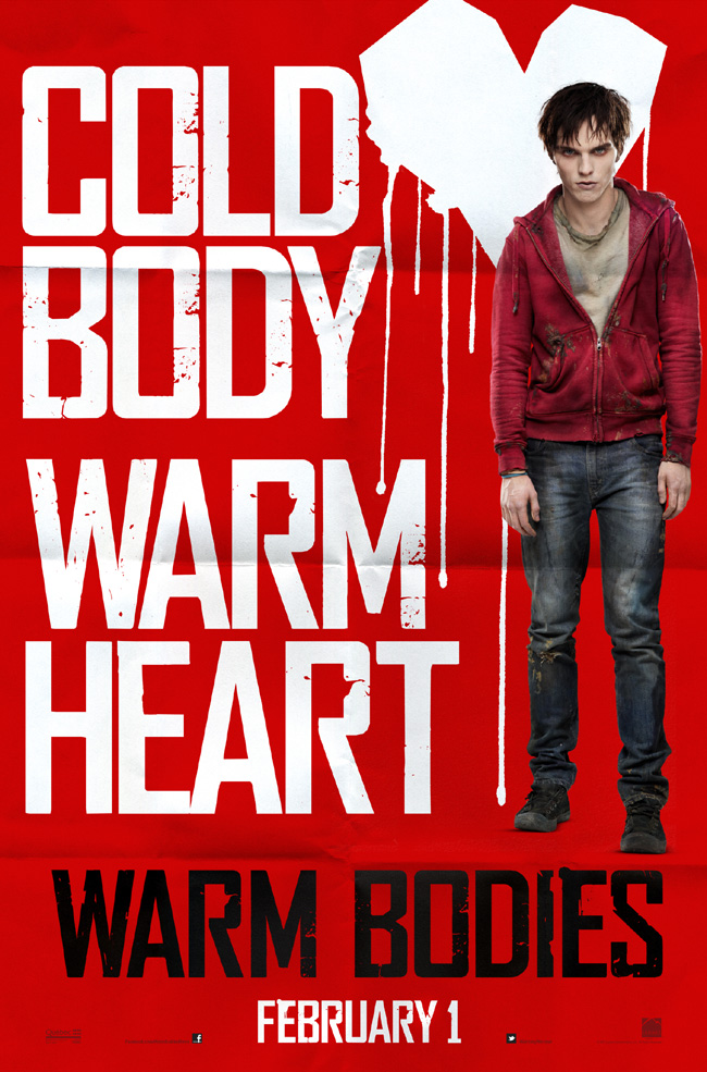 The movie poster for Warm Bodies starring John Malkovich