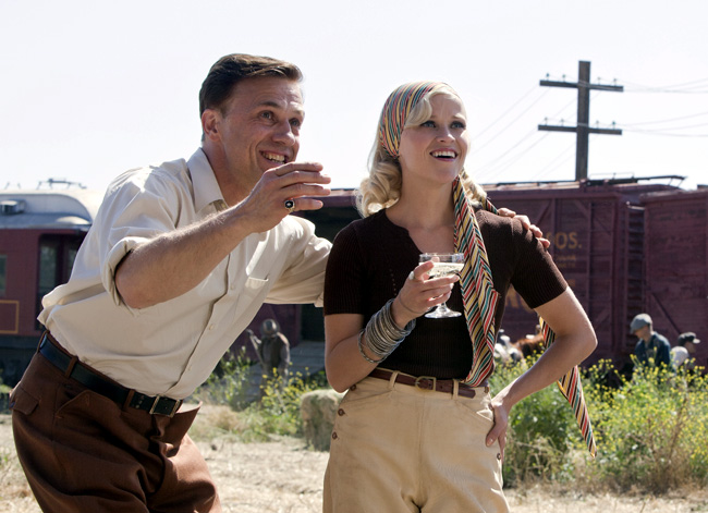 Christoph Waltz (left) and Reese Witherspoon in Water for Elephants