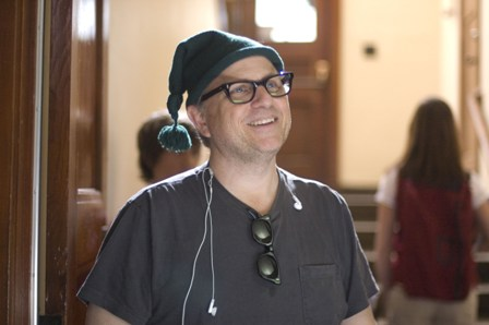 Director Bobcat Goldthwait on the set of WORLD'S GREATEST DAD, a Magnolia Pictures release.
