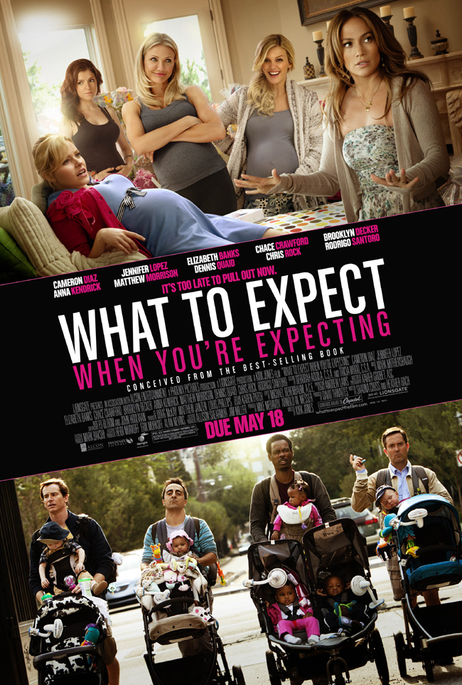 The movie poster for What to Expect When You're Expecting with Cameron Diaz