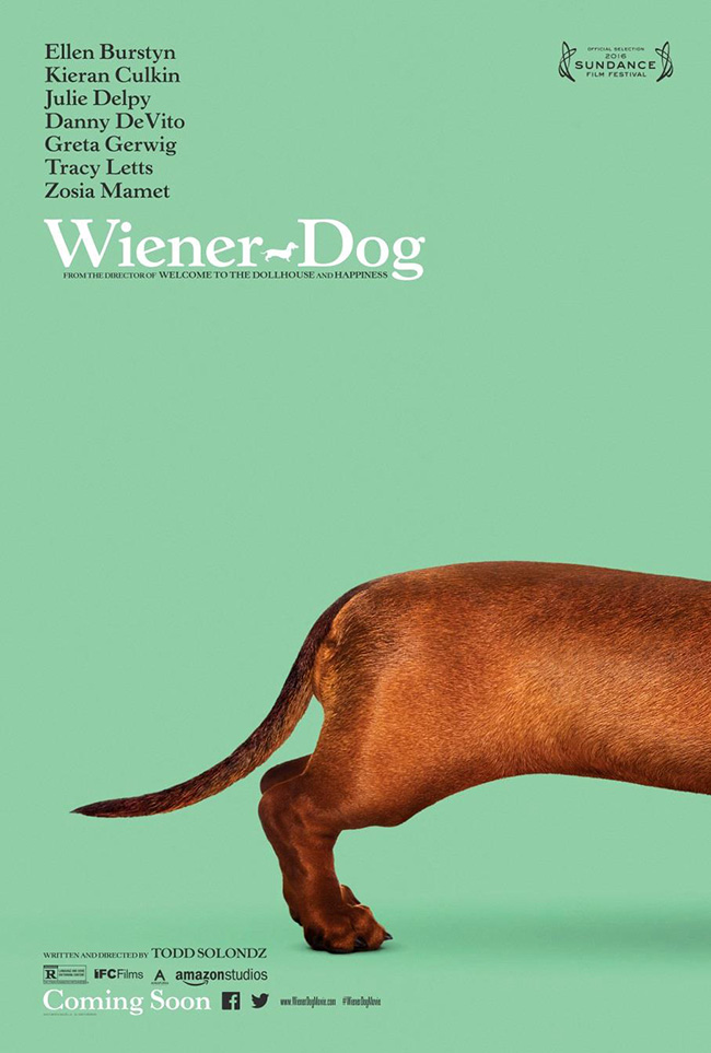 The movie poster for Wiener-Dog starring Greta Gerwig and Julie Delpy
