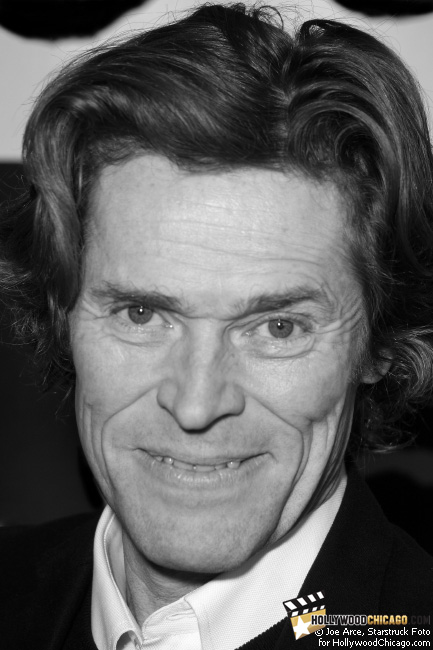 Willem Dafoe on the red carpet for the Chicago International Film Festival premiere of Antichrist.