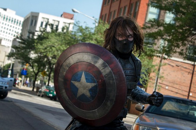 Sebastian Stan as Bucky Barnes/Winter Soldier in Captain America: The Winter Soldier