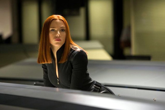Scarlett Johansson as Natasha Romanoff/Black Widow in Captain America: The Winter Soldier