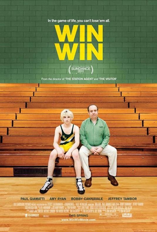 The movie poster for Win Win with Paul Giamatti and Amy Ryan