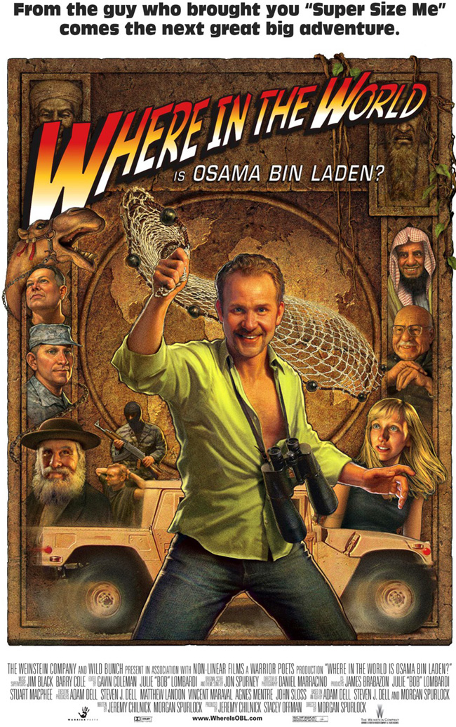 Movie poster art for Morgan Spurlock's Where in the World is Osama Bin Laden?
