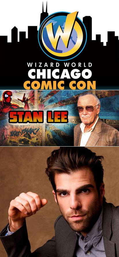 Meet Stan Lee and Zachary Quinto at Wizard World Chicago
