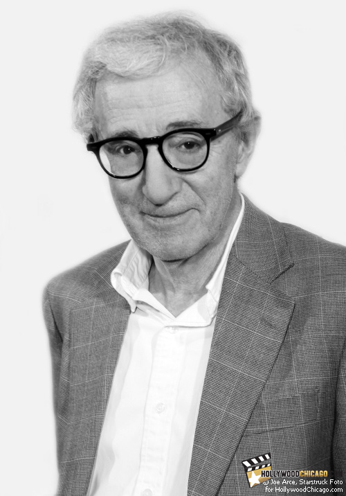 Woody Allen in Chicago for the Magic in the Moonlight red carpet