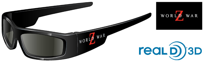 Experience World War Z with these custom RealD 3D glasses