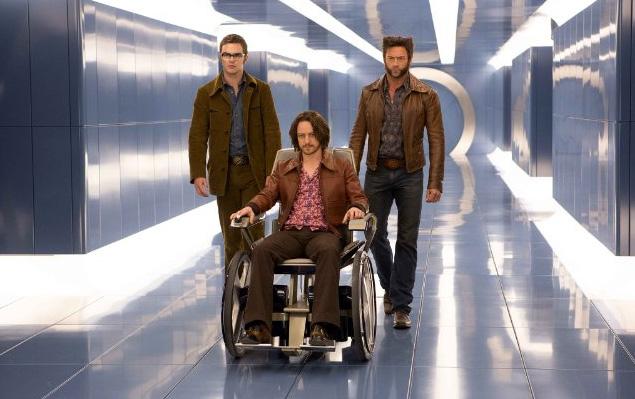 Nicholas Hoult, James McAvoy, Hugh Jackman