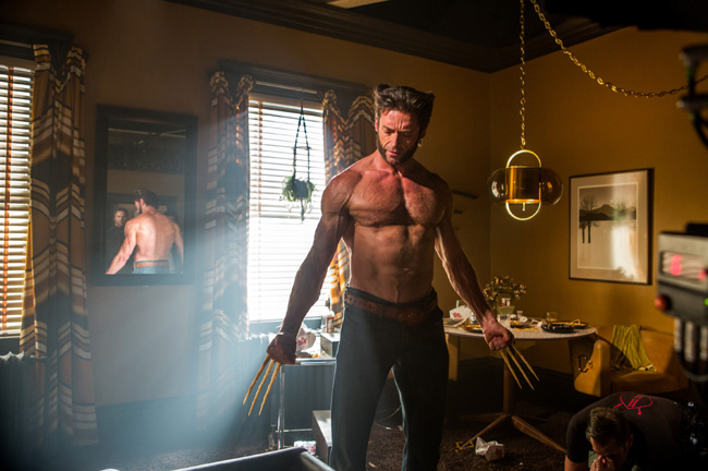Hugh Jackman as Logan/The Wolverine in X-Men: Days of Future Past