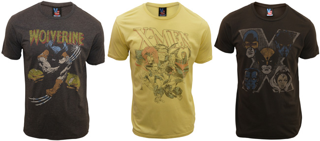 X-Men vintage T-shirts from the Junk Food Clothing Company