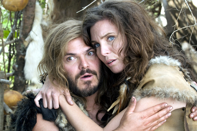 Jack Black (left) and June Raphael star in Columbia Pictures' comedy Year One