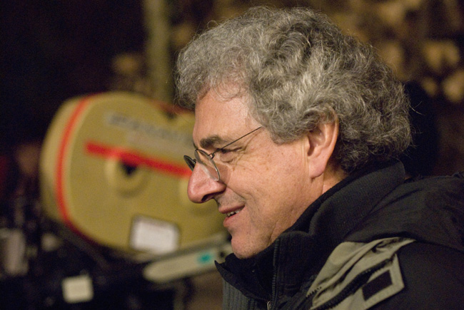 Director Harold Ramis on the set of Columbia Pictures' comedy Year One