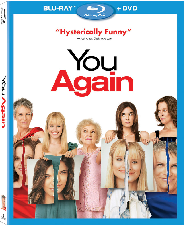 The Blu-ray and DVD combo pack for You Again with Kristen Bell, Jamie Lee Curtis and Sigourney Weaver