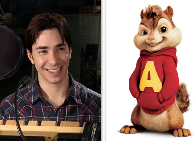 Justin Long plays the voice of Alvin in Alvin and the Chipmunks