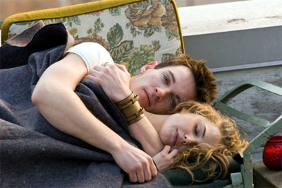 Jonathan Rhys Meyers and Keri Russell in August Rush