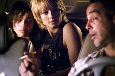 Zoe Kravitz, Jodie Foster and Victor Colicchio in The Brave One