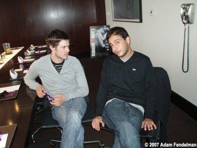 Adam Brody and Jon Kasdan: Photo by Adam Fendelman