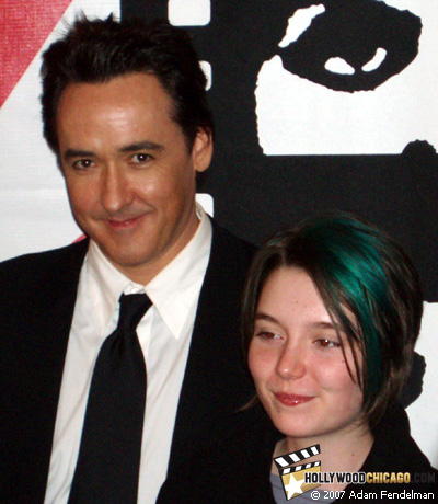 John Cusack and Shelan O'Keefe in Chicago on Oct. 12, 2007 at the Chicago International Film Festival for Grace is Gone