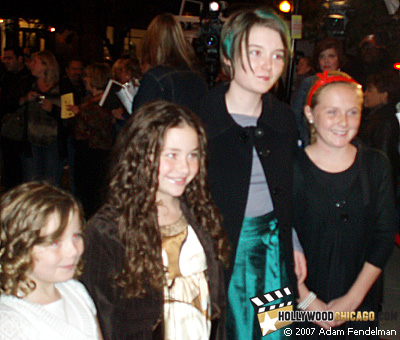 First-time Chicago stars Gracie Bednarczyk (second from the left) and Shelan O'Keefe (second from the right) in Chicago on Oct. 12, 2007 at the Chicago International Film Festival for Grace is Gone