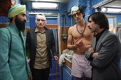From to right left, Jason Schwartzman, Adrien Brody and Owen Wilson in The Darjeeling Limited
