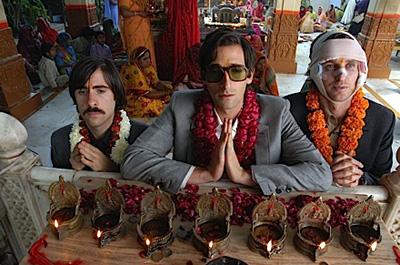 From left to right, Jason Schwartzman, Adrien Brody and Owen Wilson in The Darjeeling Limited