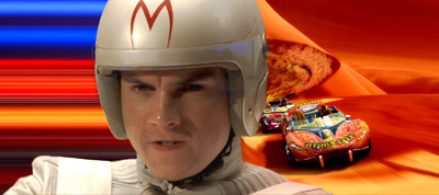 Emile Hirsch as Speed Racer in Speed Racer, which is slated to open on May 9, 2008