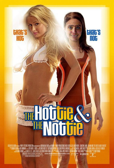 The movie poster for The Hottie and the Nottie with Paris Hilton