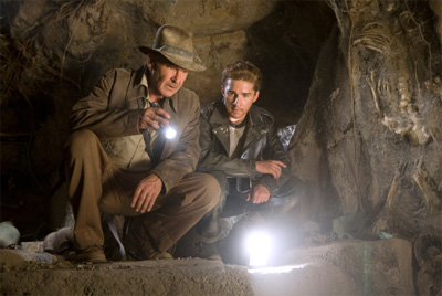 Harrison Ford (left) and Shia LaBeouf in Indiana Jones and the Kingdom of the Crystal Skull
