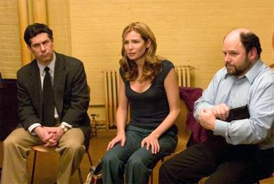 Chris Parnell (left), Jennifer Westfeldt and Jason Alexander in Ira and Abby