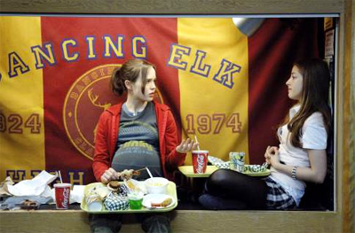Ellen Page (left) and Olivia Thirlby in Juno