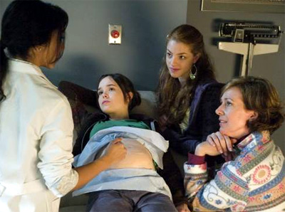 From right to left, Olivia Thirlby, Allison Janney and Ellen Page in Juno
