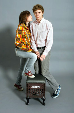 Ellen Page and Michael Cera for Juno on Sept. 8, 2007