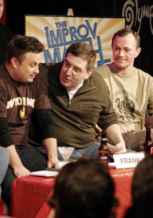 Frank Caeti (MADtv, on left), Armando Diaz and Kevin Dorff (on right)
