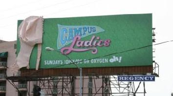 A Campus Ladies billboard