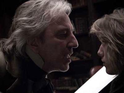Alan Rickman (left) in Sweeney Todd: The Demon Barber of Fleet Street