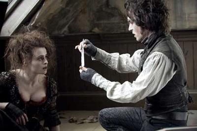 Helena Bonham Carter and Johnny Depp in Sweeney Todd: The Demon Barber of Fleet Street