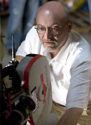 Director Frank Darabont filming The Mist