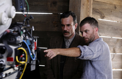 Daniel Day-Lewis (left) and director Paul Thomas Anderson in There Will Be Blood