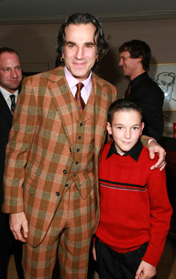 Daniel Day-Lewis (left) and Dillon Freasier on Dec. 10, 2007 for There Will Be Blood